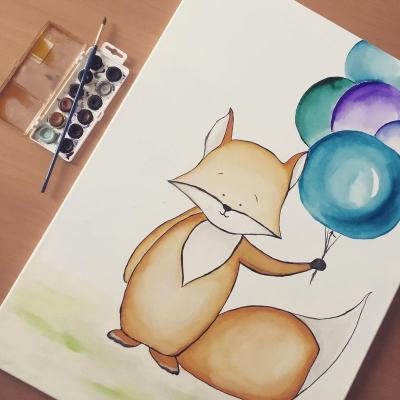 Foxi s balónmi