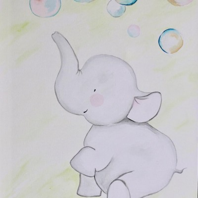 Sloník s bublinkami