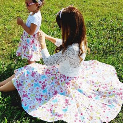 Dámska kruhová sukňa Motýle