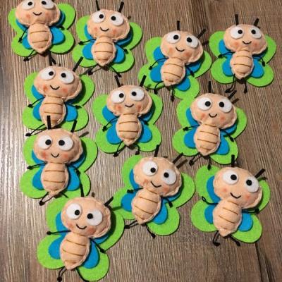 Motýliky z filcu