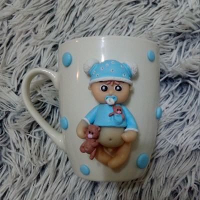 Hand made- CHLAPČEK -pohárik