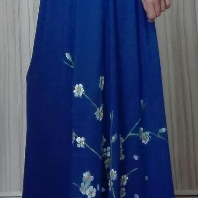 Maľovaná maxi sukňa
