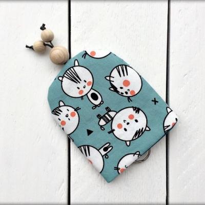 Kľúčenka - tyrkysové mačky
