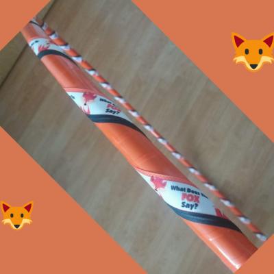 Obruč na hooping lišky-oranžovo-černá 85 cm