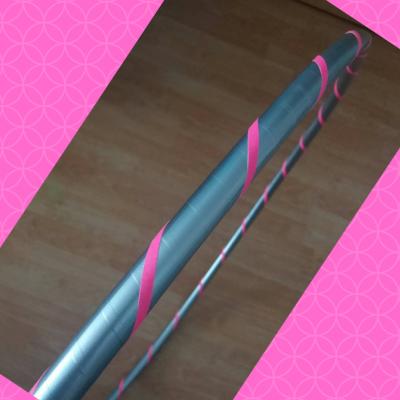 Obruč na hooping stříbrno-růžová 80 cm