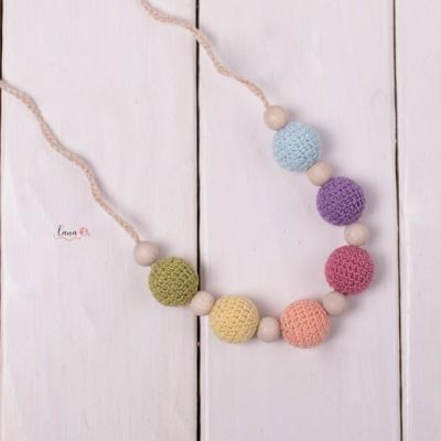 Leto - háčkovaný náhrdelník