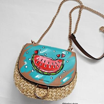 melonová fajnučká kabelka