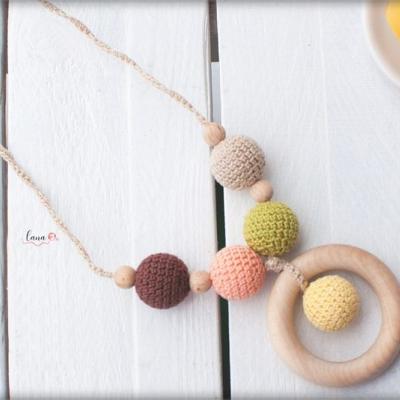 Ráno - háčkovaný náhrdelník