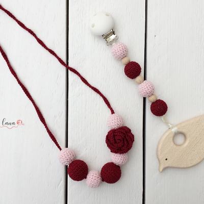 Set náhrdelníka Ruža s hryzadielkom