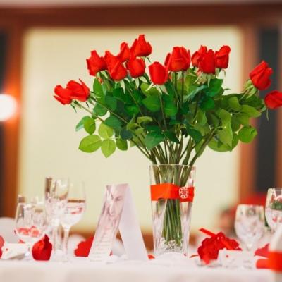 Svadobná výzdoba červená