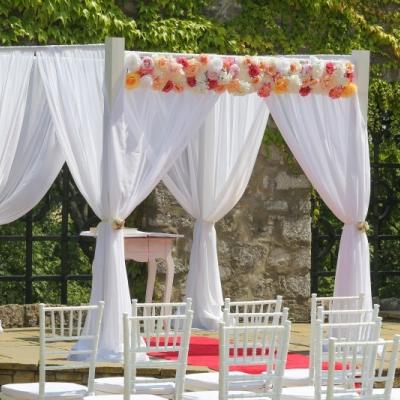 Svadobná výzdoba biela