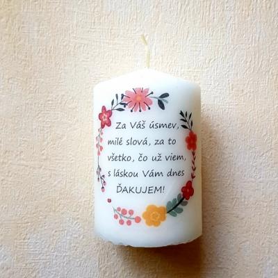 Sviečka pre pani učiteľku