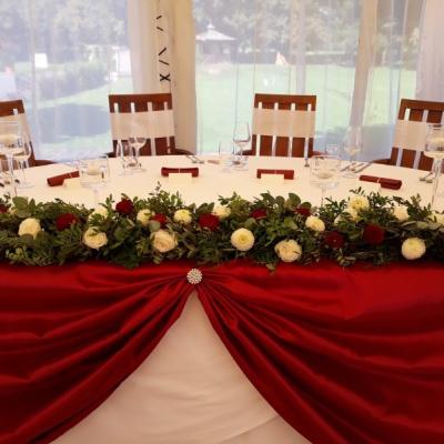 Svadobná výzdoba burgundy
