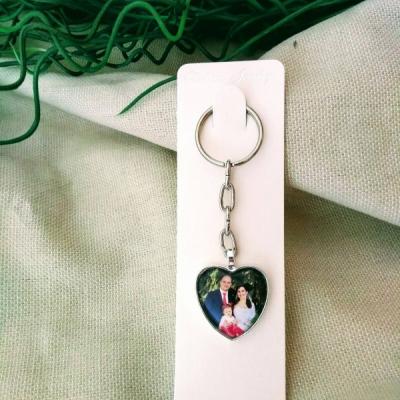 Kľúčenka srdce s fotkou alebo textom