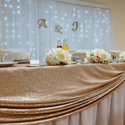 Svadobná výzdoba champagne