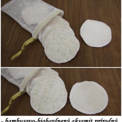 Ľanovo - bambusové odličovacie tampóniky