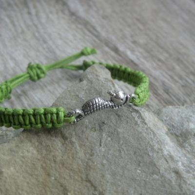 Pletený náramok detský (zelený morský koník, č. 2729)