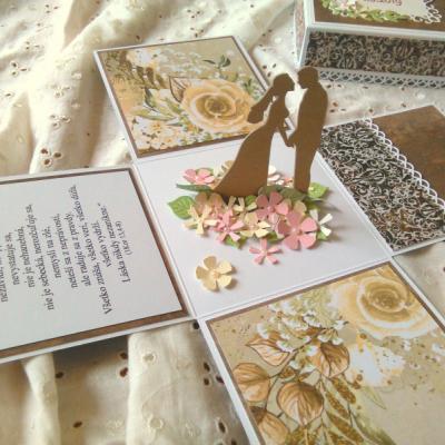 Exploding box Gratulačná krabička Svadobná