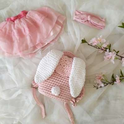 Háčkovaný detský batoh Sweet Bunny
