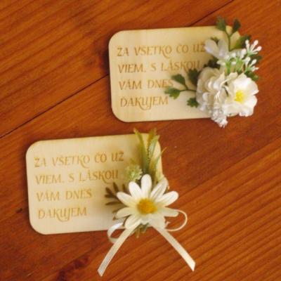 Drevené kvetinové magnetky s margarétkami