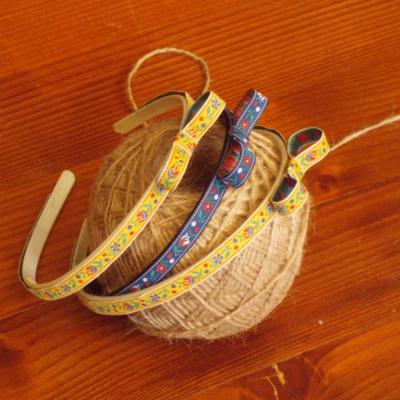 Folklórna čelenka s mašľou 1cm