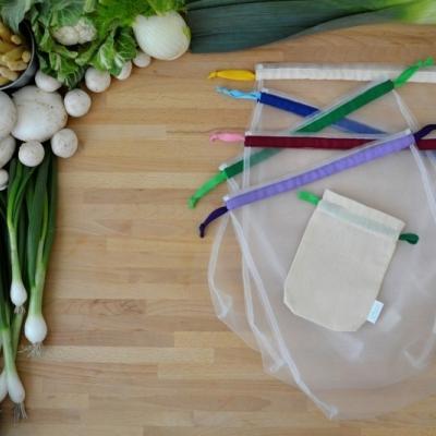 Eko vrecúška na ovocie a zeleninu - päťbalenie