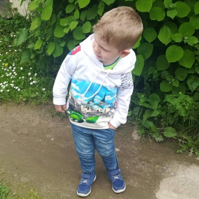 Detská ručne maľovaná mikina-ŽILINSKÁ KATEDRÁLA