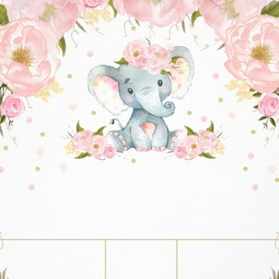 Pozvánka sloník s kvetmi