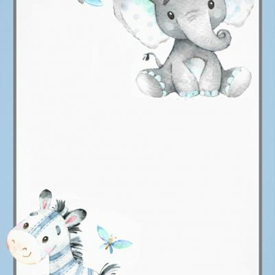 Pozvánka sloník so zebrou