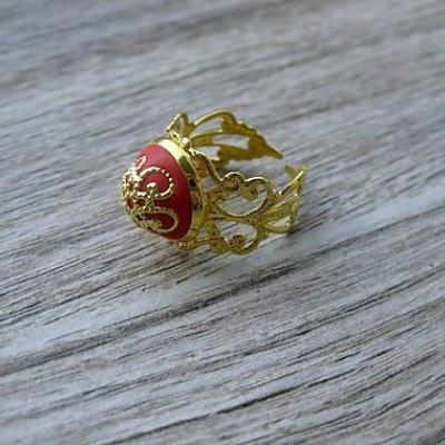 Filigránový prsteň (červený č.961)