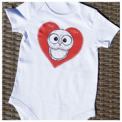Detské bavlnené body - OčiPuči Baby Sôvä