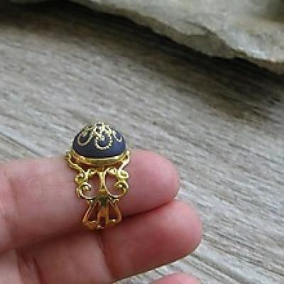 Filigránový prsteň (tmavomodrý, č. 2715)