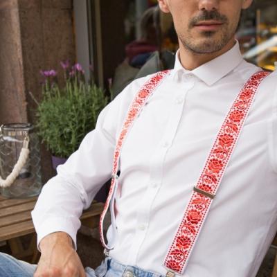 Svadobné folklórne traky (červeno-biele)