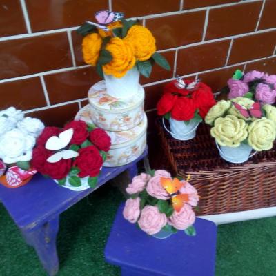 Háčkované ruže