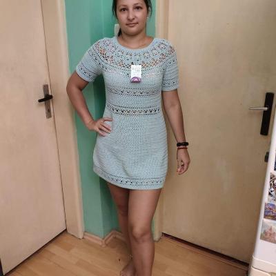 Háčkované letné šaty