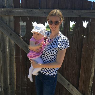 Blúzka na dojčenie DOTS