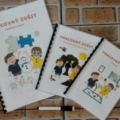 3 ks pracovnych zošitkov- Obkreslovanie, Úlohy pre zvedavé detičky a Bývanie