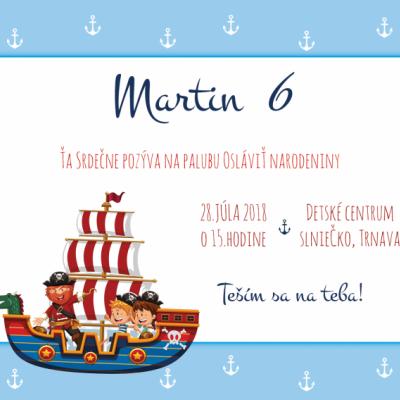 Pozvánka detská - pirát