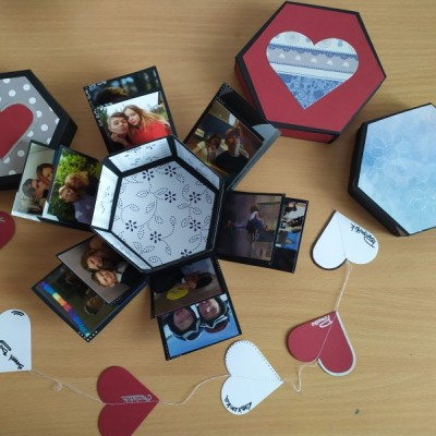 Srdiečkavý hexagonál na fotky