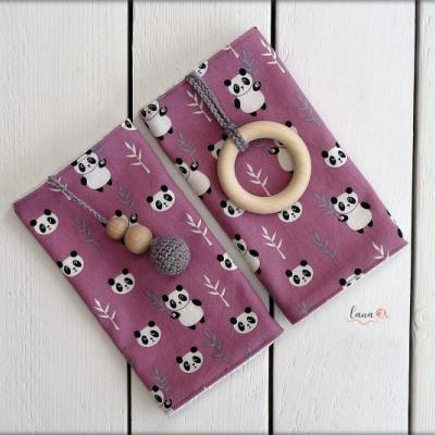 Slintáčiky ružové pandy - návleky na ergonomický nosič