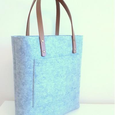 Filcová kabelka s kapsou