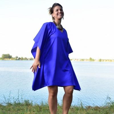 Polnočná Radosť - Krátky kaftan, šaty, domáce oblečenie, nočná košeľa
