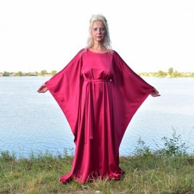 Horúca Malina - Kaftan, šaty, luxusné domáce oblečenie