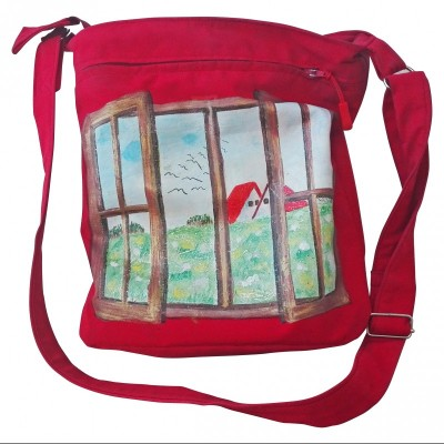 Softshellová kabelka maľovaná
