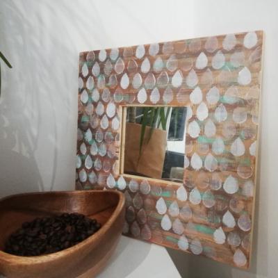 Zrkadlo s kvapkami