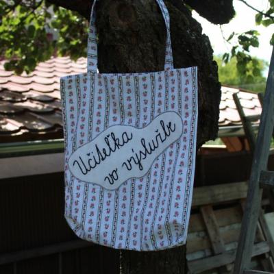 Bavlnená taška s nápisom
