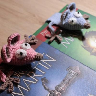 Záložka do knihy - ružová myš