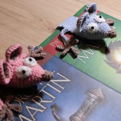 Záložka do knihy - modrý potkanček