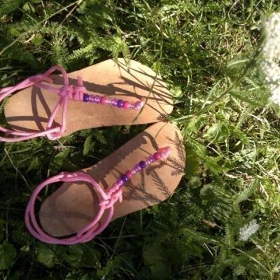 Huaraches sandálky No. 2 s korálkami