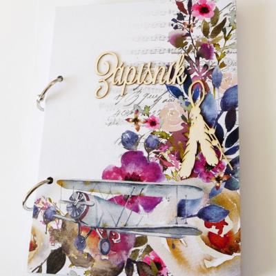 zápisník s kvetmi